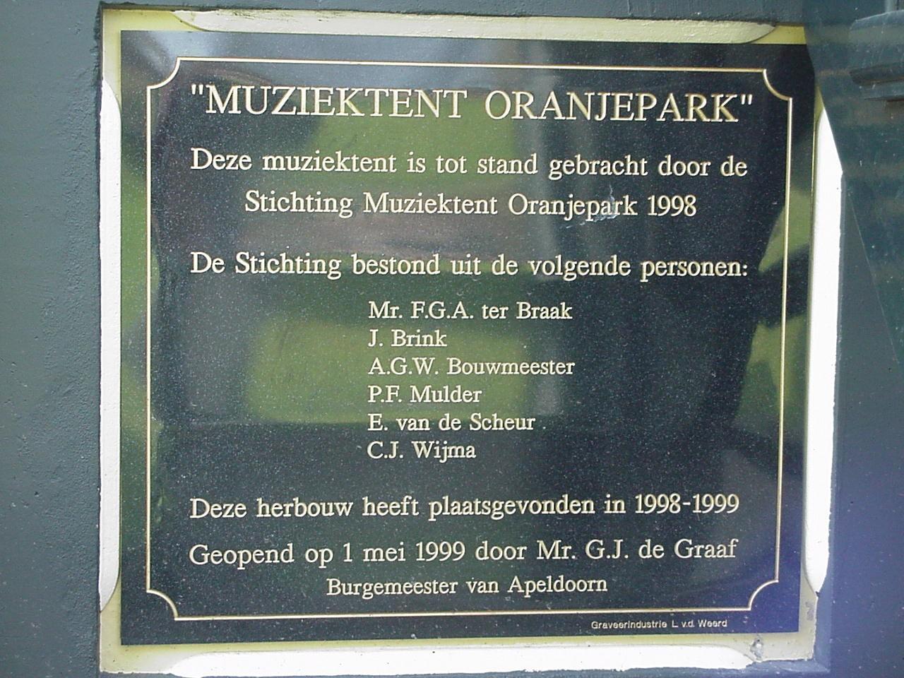 muziektent tegel oprichting 1998